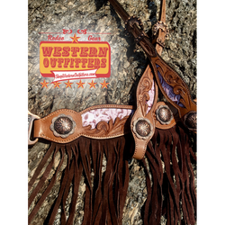 Belle Star Headstall and Fringe Breast Collar Set