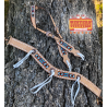 Buffalo Jump Light Leather Headstall and Thin Tripping Collar Set