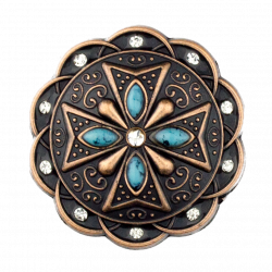 Turquoise and clear bling  Concho
