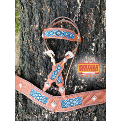 Maricopa Beaded Headstall and Tripping Collar Set