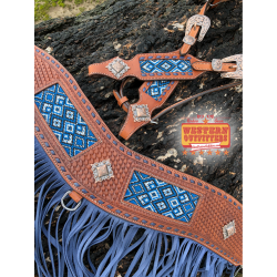 Maricopa Beaded Headstall and Fringe Tripping Collar Set