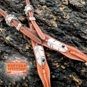 Copper and Black Feather Headstall