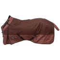 Tough-1 1200D Waterproof Poly Snuggit Turnout Blanket in Tooled Leather Print