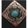 Wagon Wheel Cow Hide Stirrups