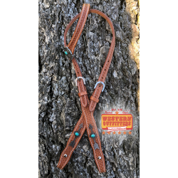Thunderbird and Arrow Feather Headstall