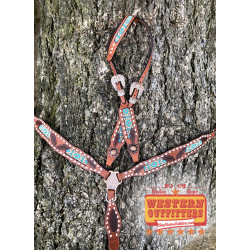 Sedona Beaded Headstall and Breast Collar Set