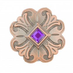 Purple Cross Concho