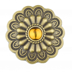 Antique Bronze Sunburst Concho