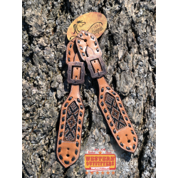 Tombstone Beaded Spur Straps
