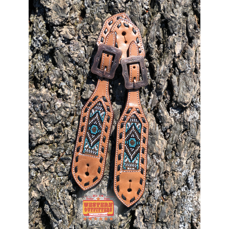Senora Beaded Spur Straps