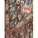 Hickok Headstall and Fringe Breast Collar Set