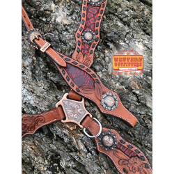 Gunsmoke Headstall and Breast Collar Set