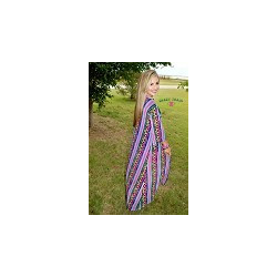 "Crazy Train ""Diamond Rio"" Serape Duster"