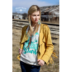 "Crazy Train Mustard ""Calamity Jane"" Blazer"