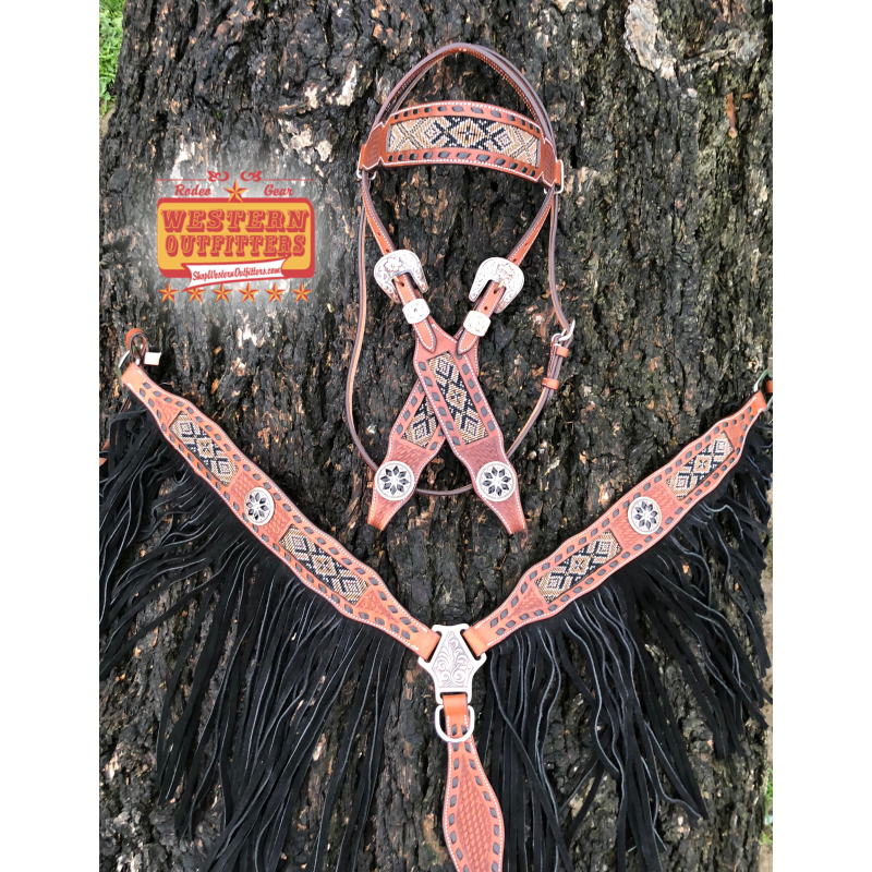 Tombstone Headstall and Breast Collar Set