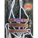 White Leather Nose Rope Halter