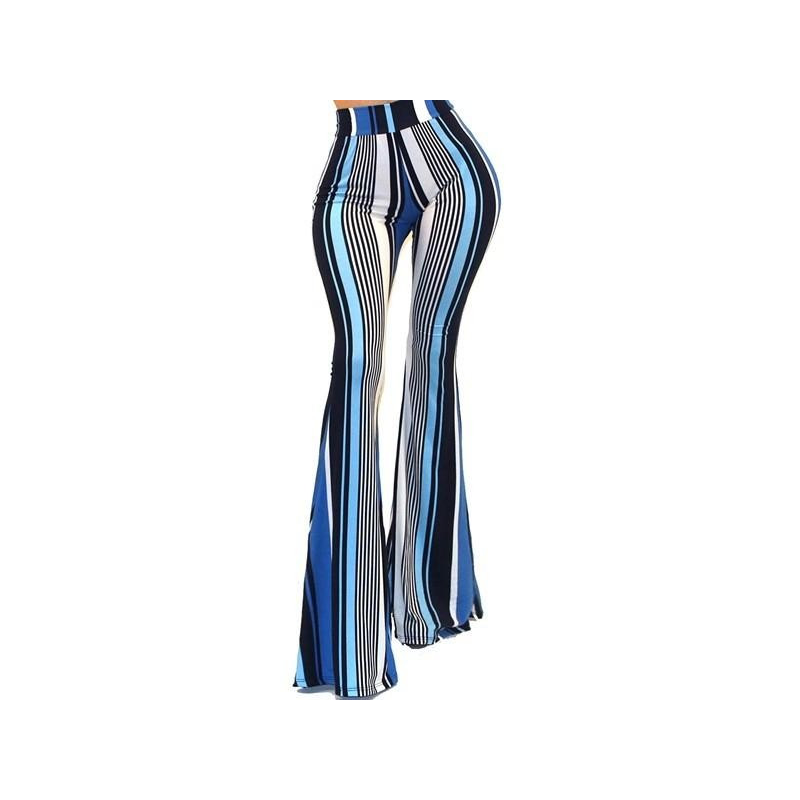"""The Cher"" Striped Bell Bottom Pants"