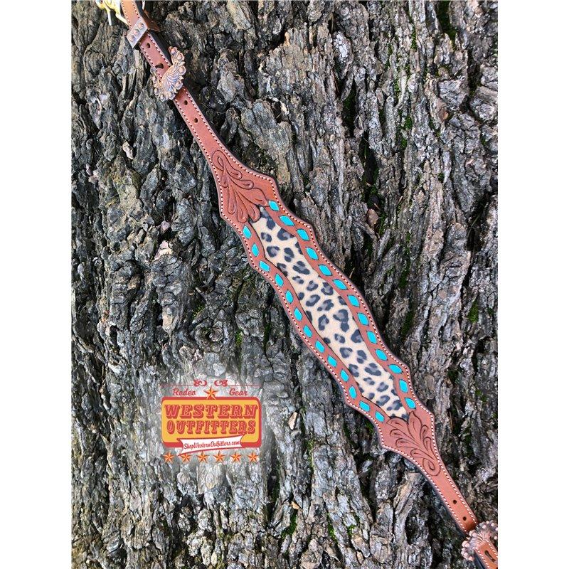 Hooey Brown Leather Oil Gear Cap