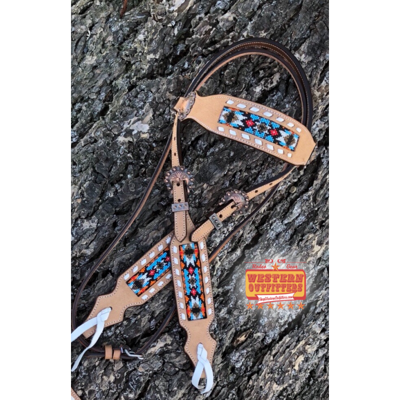 Buffalo Jump Light Beaded Headstall