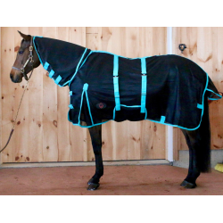 Black & Turquoise Full Neck Mesh Fly Sheet