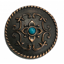 Antique Copper Round Concho...