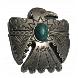 Antique Silver Thunderbird Concho