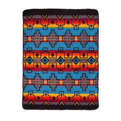 Navajo Fleece Lodge Blanket