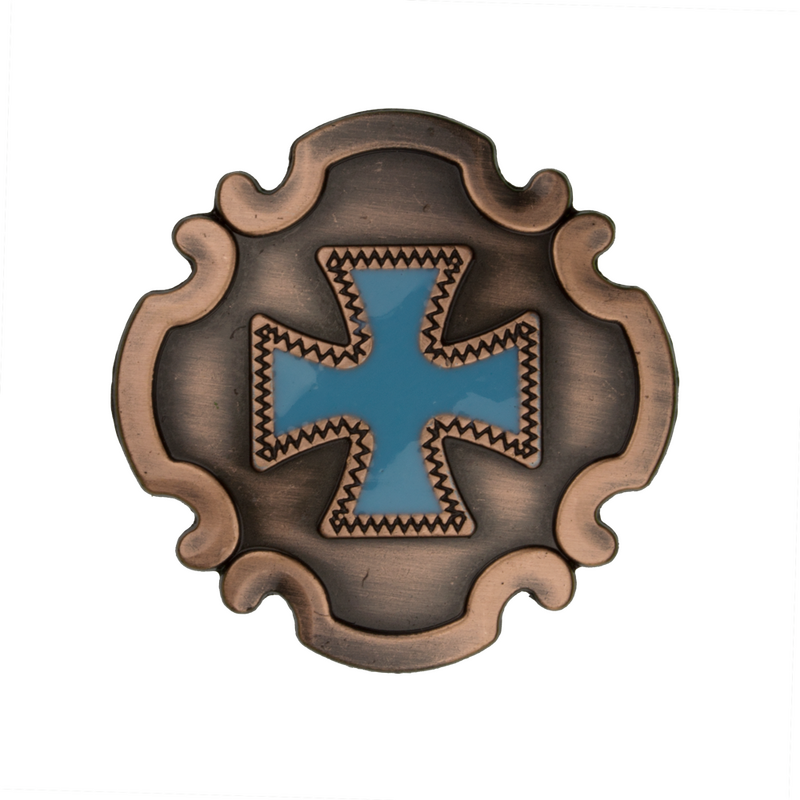 Turquoise Chopper Cross Concho