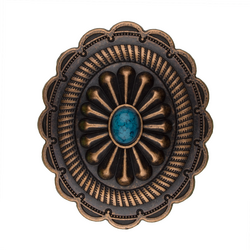 Turquoise Oval Concho