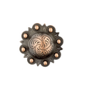 "1½"" Round Antique Copper Berry Concho"