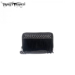 Trinity Ranch Fringe Wallet BK