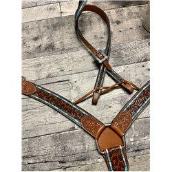 Leopard print buffalo cap