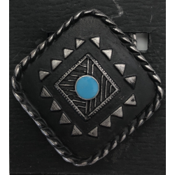 Black and Turquoise Diamond...