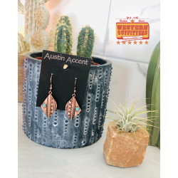 Copper Aztec Earrings