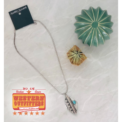 Silver Aztec Necklace