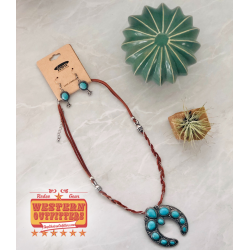 Leather necklace with...