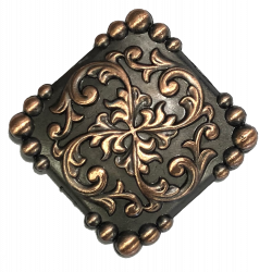 Antique Copper Fancy Square...