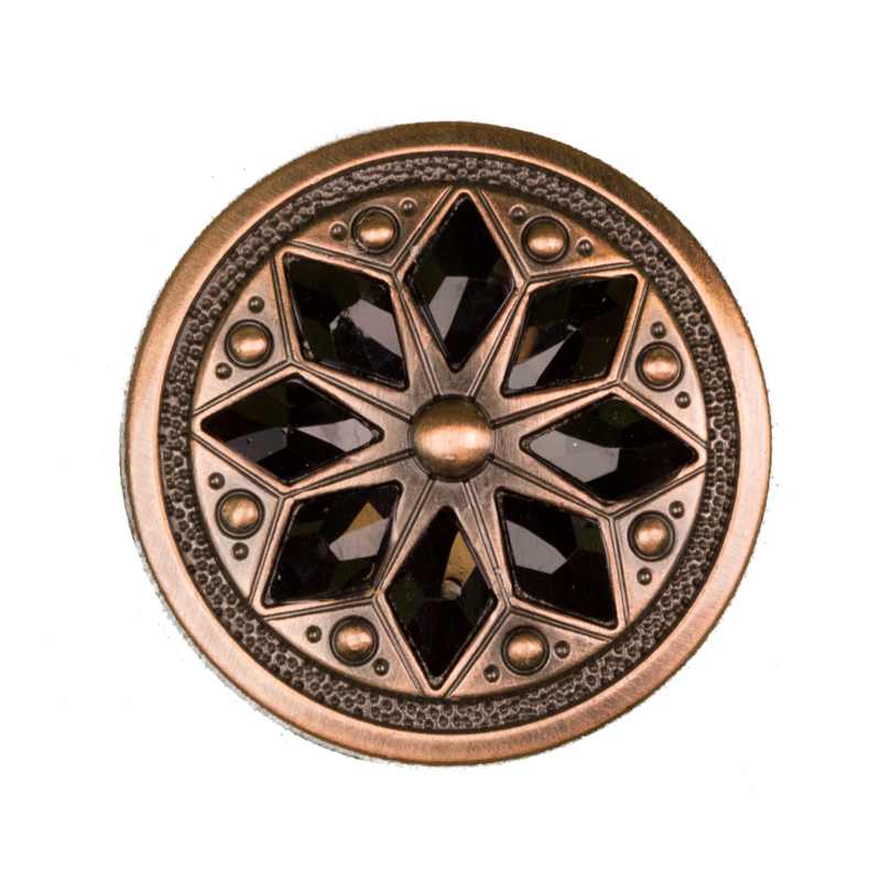 Round black Diamond Concho