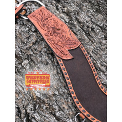 Brown Cowhide Tripping Collar