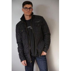 Kimes Mens Black Quilted...