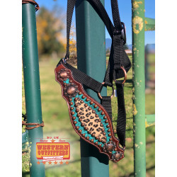 Leopard and Turquoise Bronc...