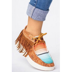 Canvas Sneaker with Fringe:...