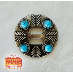 Turquoise Stone Slotted Concho