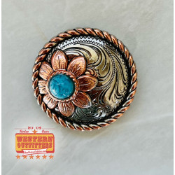 Turquoise Sunflower Concho